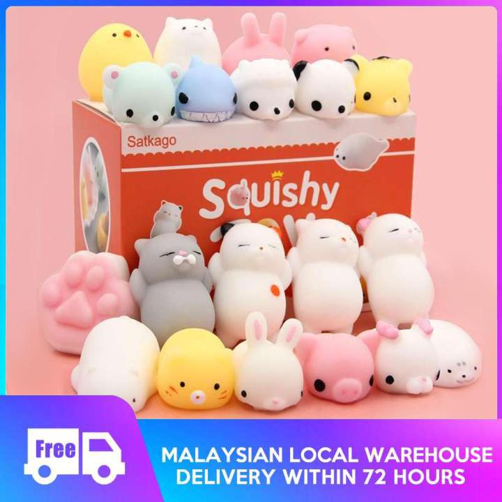 Lucoo Squeeze Toys for Kids Squishy Toy Kawaii Mochi Animals Squishies Slow Rising Mini Stress Reliever Simulation Toy Adult Anxiety Squishys Gifts Pink-1