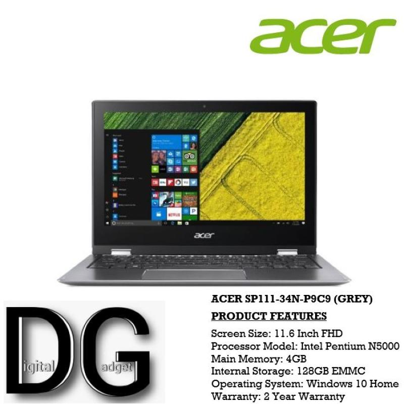 ACER SP111-34N-P9C9(GREY) 11.6 IN INTEL PENTIUM N5000 4GB 128GB EMMC WIN 10