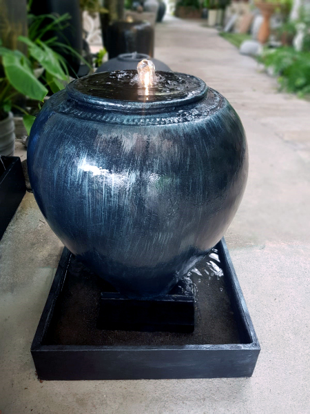 Water fountain simple waterscape asian feng shui zen minimalist decoration