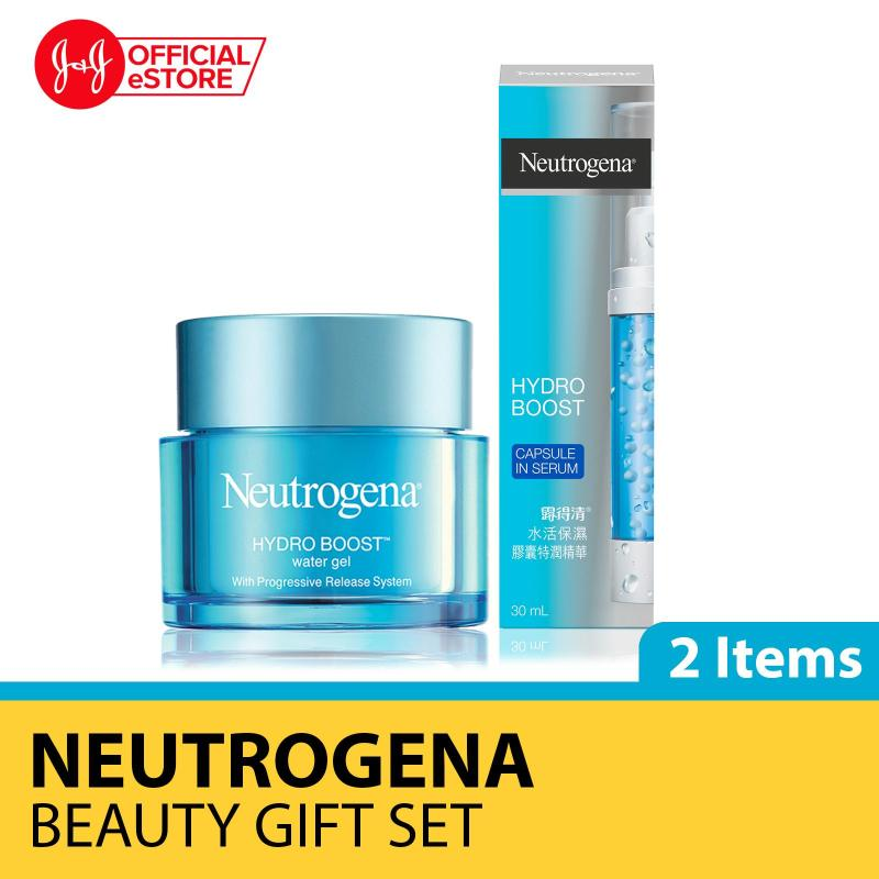Buy [Xmas Gift] Secret Santa Gift Set - Neutrogena Hydro Boost Water Gel 50g + Capsule in Serum 30ml Singapore