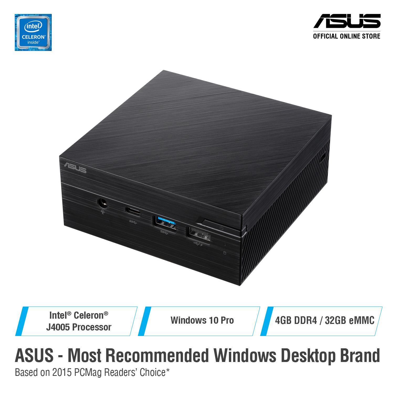 ASUS Mini PC PN40-BC364ZV Intel Celeron J4005, 4GB DDR4, 32GB eMMC, Windows  10 Pro, Wireless Keyboard+Mouse