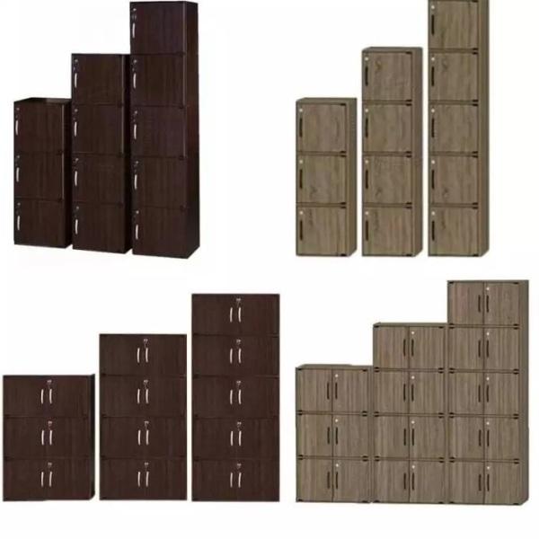 BEST LINK FURNITURE BLF Wooden Door Bookcase / Utility Storage Cabinet