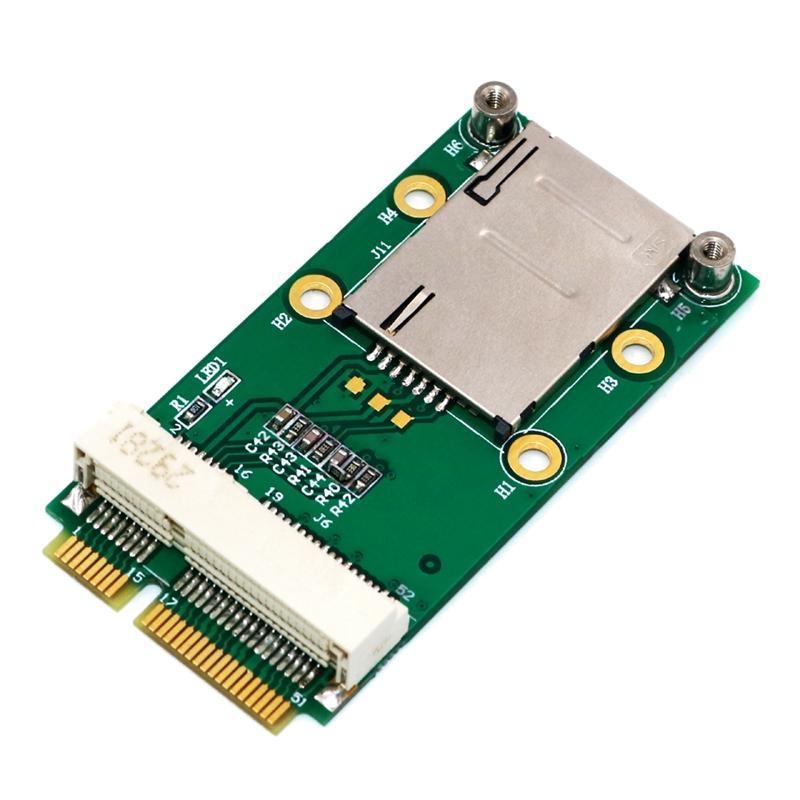 Giá New Mini PCI Express Adapter for 3G 4G Module with USIM Slot MINI PCI E To Mini PCI-E Riser Card Support 3G/4G WWAN LTE GPS Card