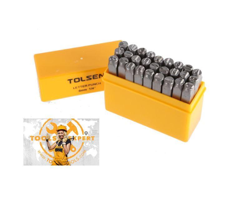 Tolsen Tools, 27pcs Letter Punch Set 6mm