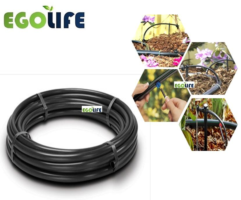 20meter Black Irrigation LDPE Tubing Poly Pipe 20mm (Outer)/17mm(Inner) for Water Drip, Micro Sprinkler or NFT Hydroponic, Windmill Brand