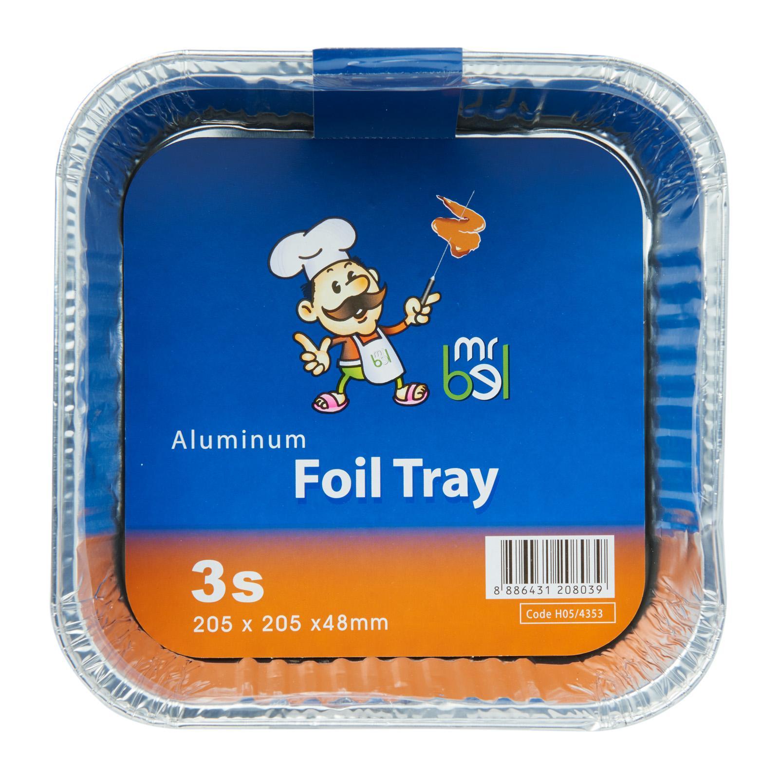 Mr Bel Disposable Square Aluminium Foil Tray