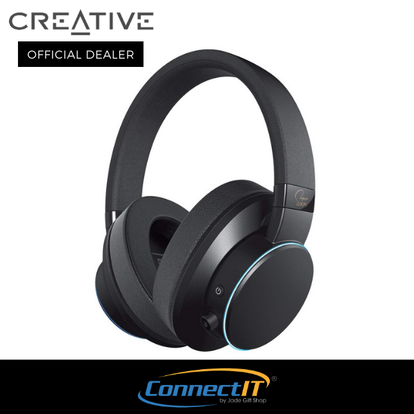 Creative SXFI AIR Bluetooth And USB Headphones With Super X-Fi Audio Holography Technology, 50mm Drivers, MicroSD Card Reader, Touch Controls And Ambient Monitoring (Black)(1 Year Local Warranty) Singapore