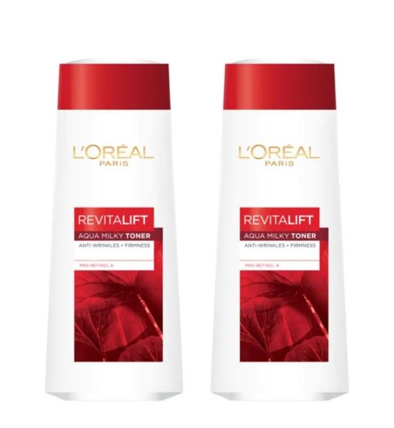 Buy LOREAL REVITALIFT AQUA-MILKY TONER 200ML x 2 QTY Singapore