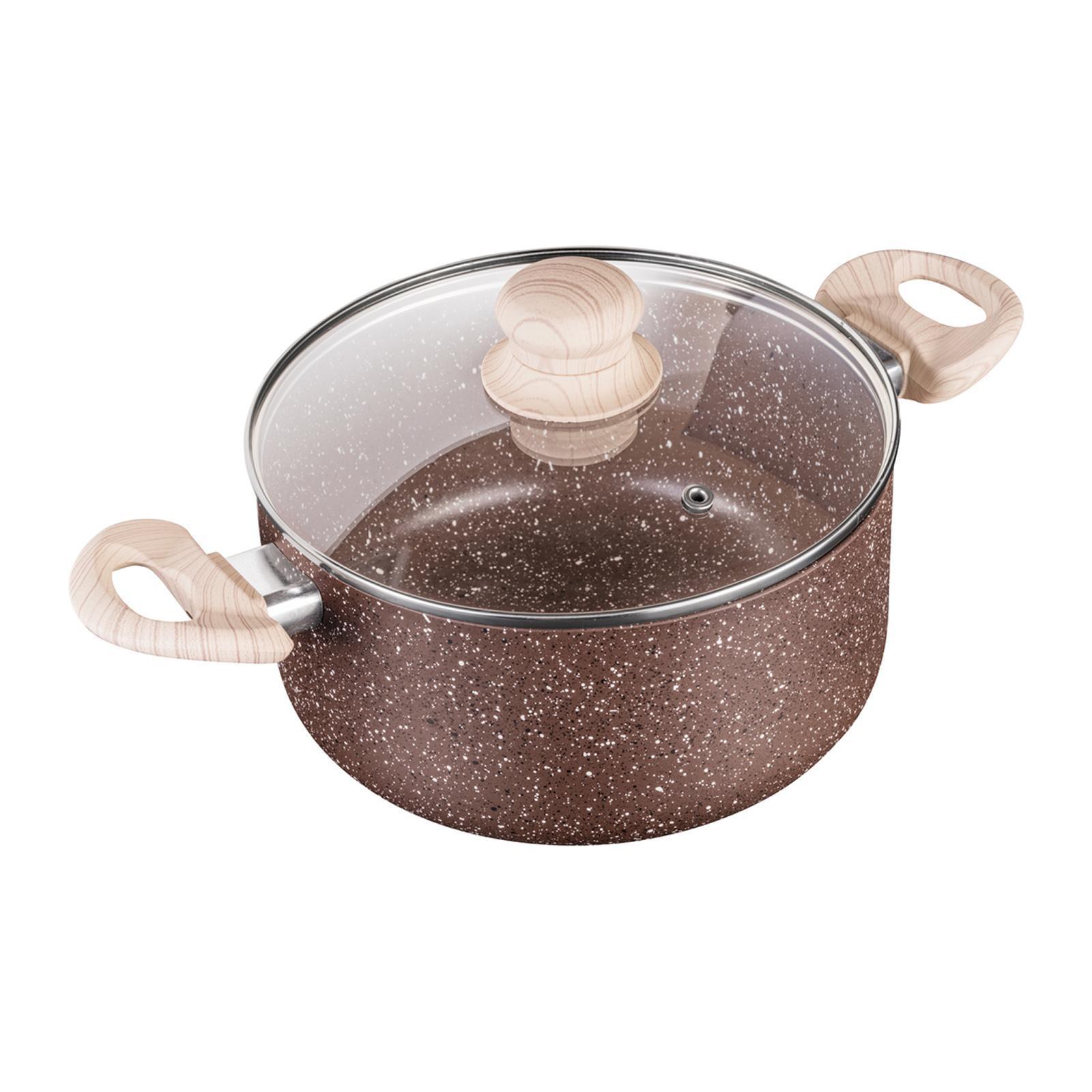 Lamart Casserole W/Lid 24Cm Marble (Brown)