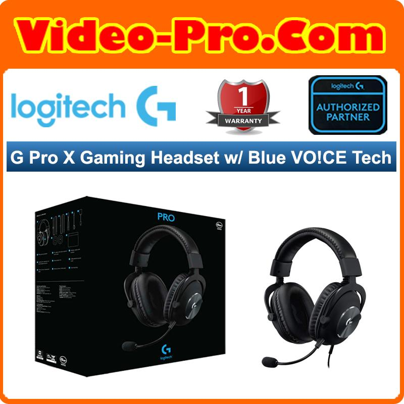 Logitech PRO X Gaming Headset with Blue VO!CE Mic Technology