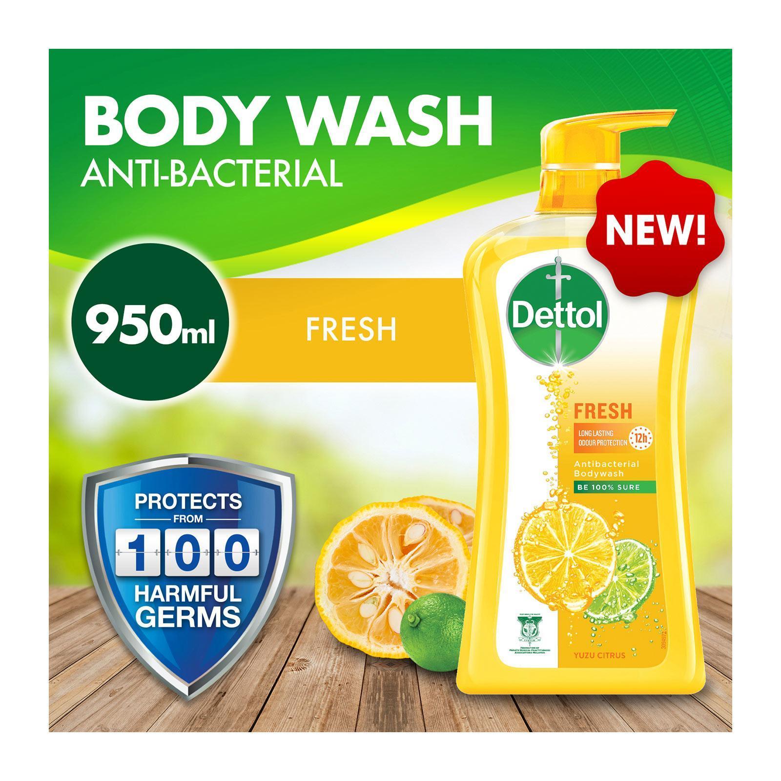 DETTOL anti bacterial shower gel fresh 950ml