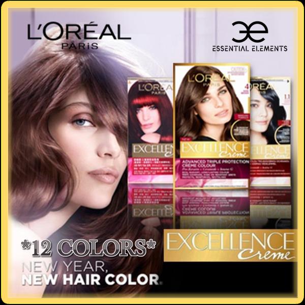 Buy LOREAL EXCELLENCE CREME HAIR DYE COLOR [12X Colours] Choice Black/Natural Light Brown/Golden/Mahogany/Auburn Singapore