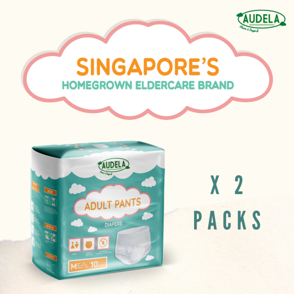 Buy Audela: Adult Pants Diapers (2-Packs) and (1) pack Body Wipes worth $3.70 Singapore