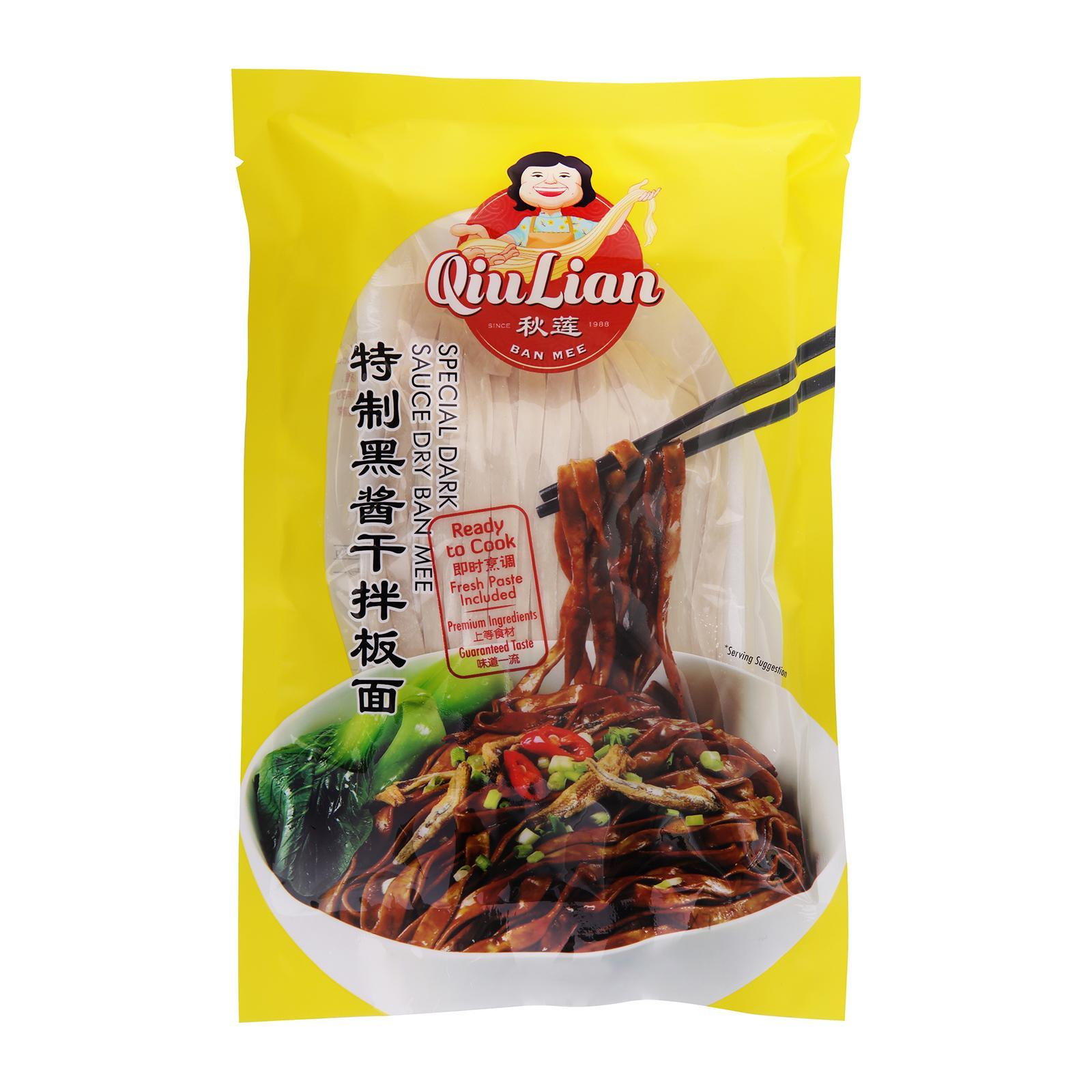 Qiu Lian Ban Mee Qiu Lian Special Dark Sauce Dry Ban Mee By Redmart.