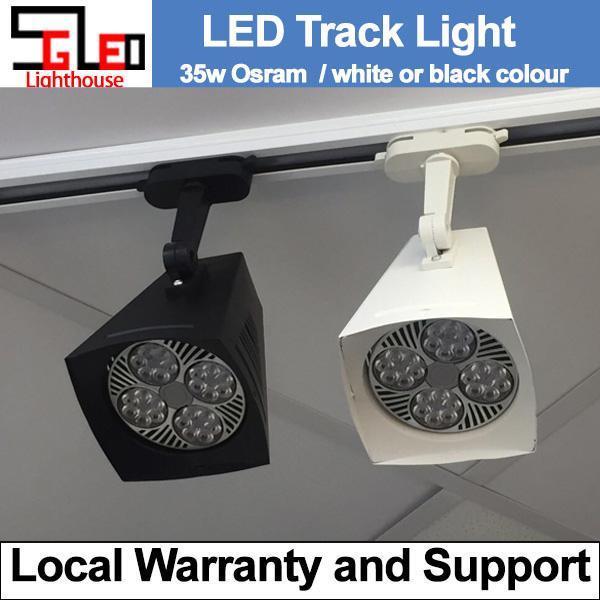 LED Ceiling Light 35W White/Black Square LED Track Light