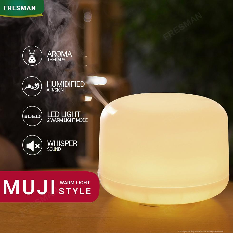 250ml MUJI Style Ultrasonic Cool Mist Aroma Diffuser For Essential Oil Aromatherapy With Water Sensor Auto Shut-Off 4 Timer Mist Mode LED Night Light