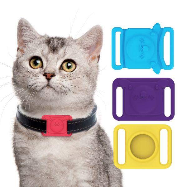 DOULI Nhiều màu sắc Định vị Thú cưng Chống thất lạc Silicone Bảo vệ Vỏ hộp Vòng cổ cho chó mèo