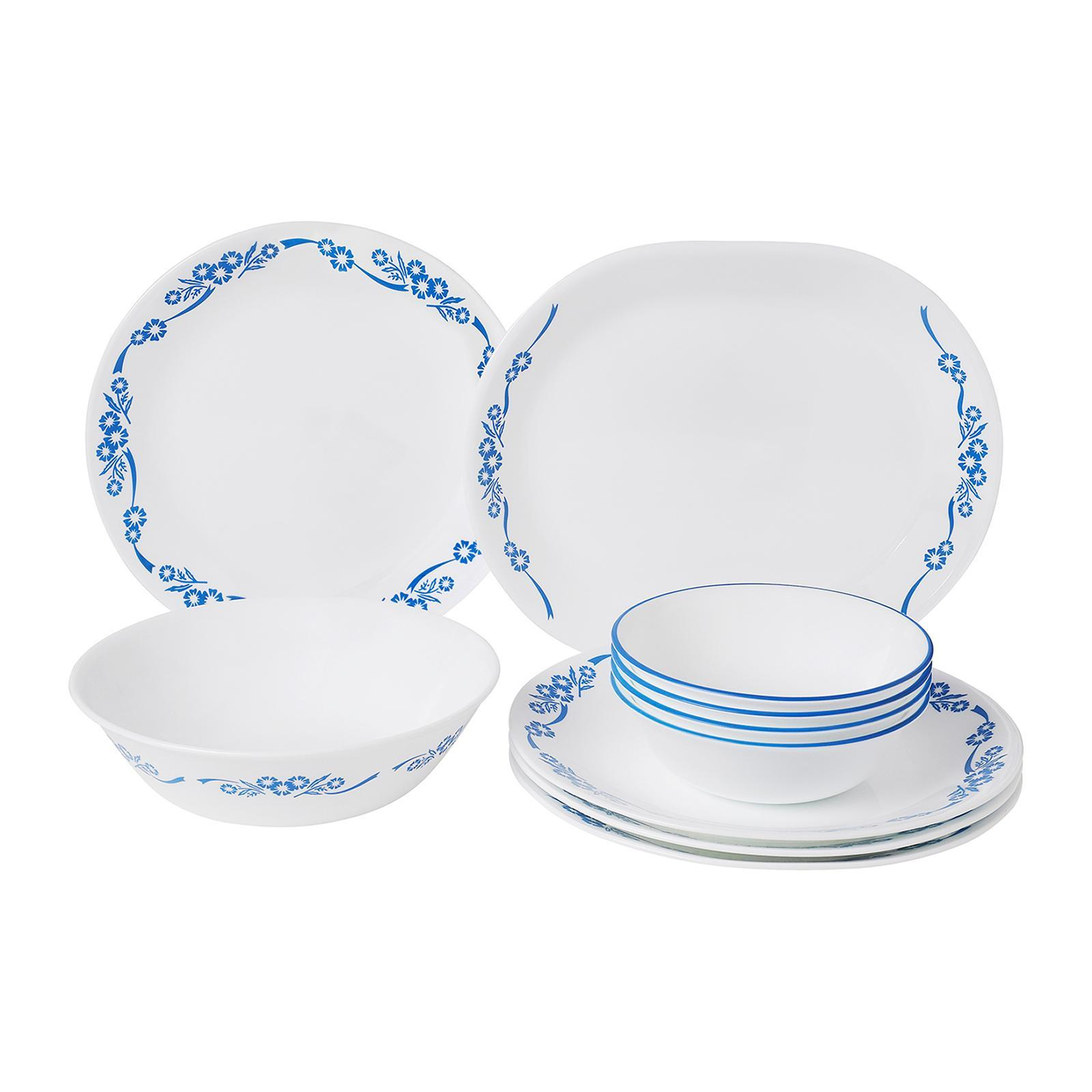Corelle 10 PCS Dinner Set (Design : Blue Cornflower)
