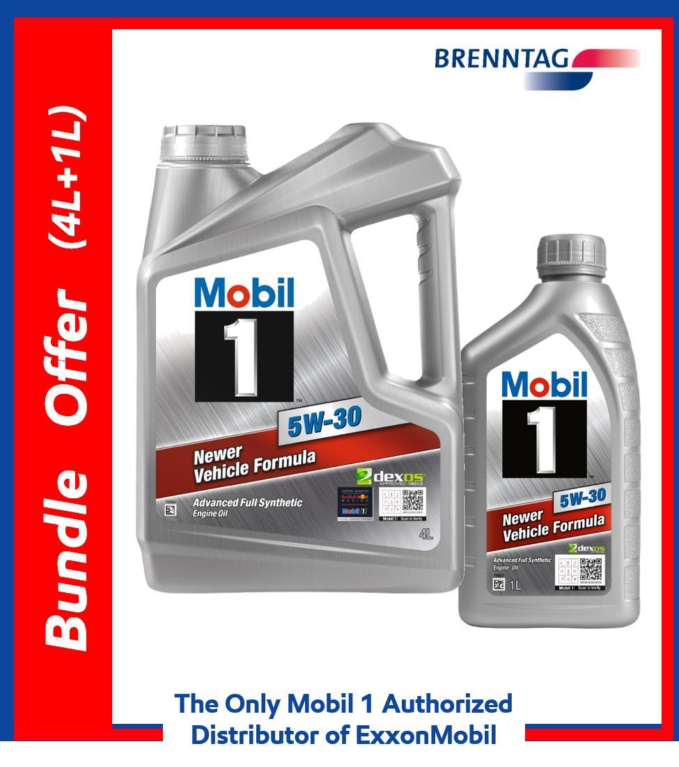 4L+1L Bundle Offer - Mobil 1™ 5W-30 (Advanced Full Synthetic Motor Oil)