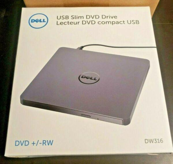 New Dell USB Slim DVD +/-RW Drive - DW316