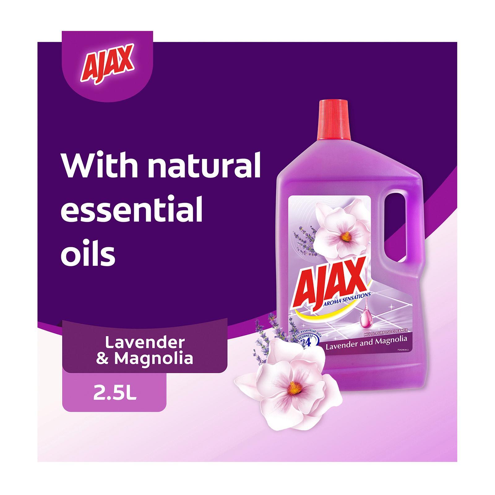 Ajax Aroma Sensations Lavender and Magnolia Antibacterial Multi Purpose Floor Cleaner 2.5L