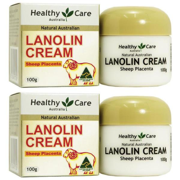 Buy Healthy Care Lanolin with Sheep Placenta 100g x 2pcs Expiry Nov 2022 - Australia Made - 100% Authentic - Moisturizes, nourishes and protects the skin - Combined with Sheep Placenta Extract and Vitamin E - Unique cream for all skin types Singapore