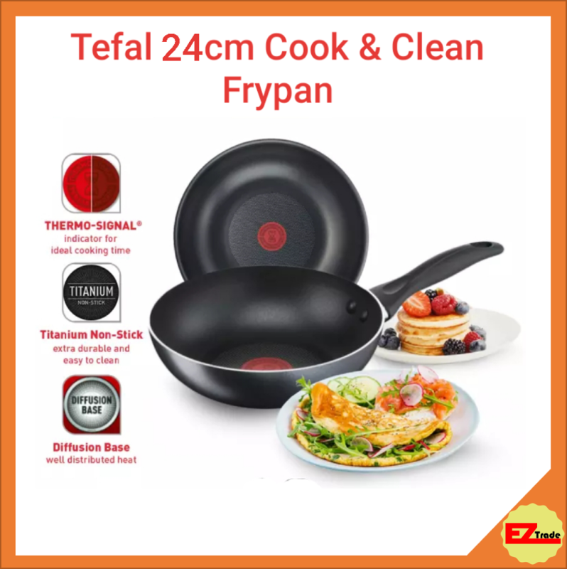 Tefal Cookware Cook & Clean Frypan Frying Pan 24cm Singapore