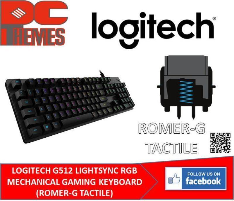 LOGITECH G512 LIGHTSYNC RGB MECHANICAL GAMING KEYBOARD (ROMER-G TACTILE) Singapore