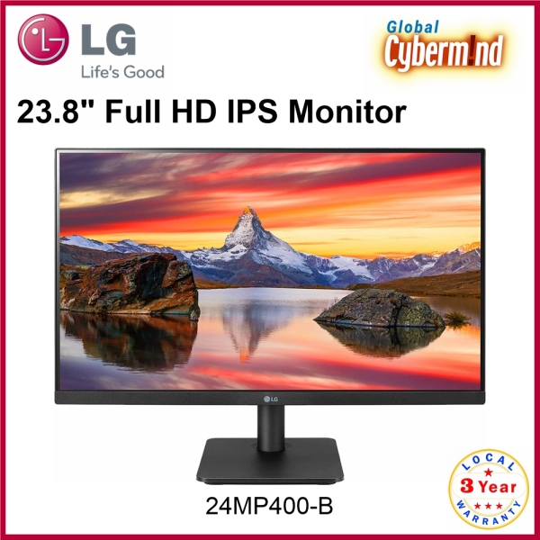 LG 24 LG 24MP400 23.8 Full HD IPS Monitor with Radeon FreeSync [24MP400-B] Borderless Design Replacement model for LG 24MK430H(Brought to you by Global Cybermind)