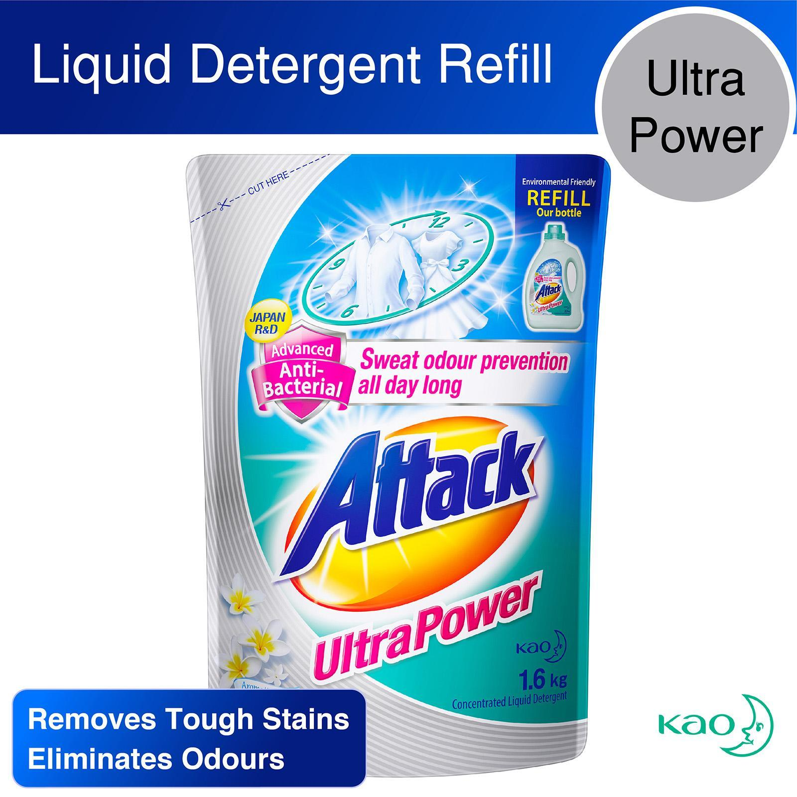 Attack Ultra Power Liquid Detergent Refill Pack