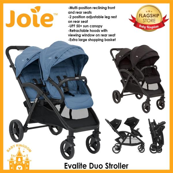 Joie Evalite Duo Stroller (Deep Sea / Coal) Singapore
