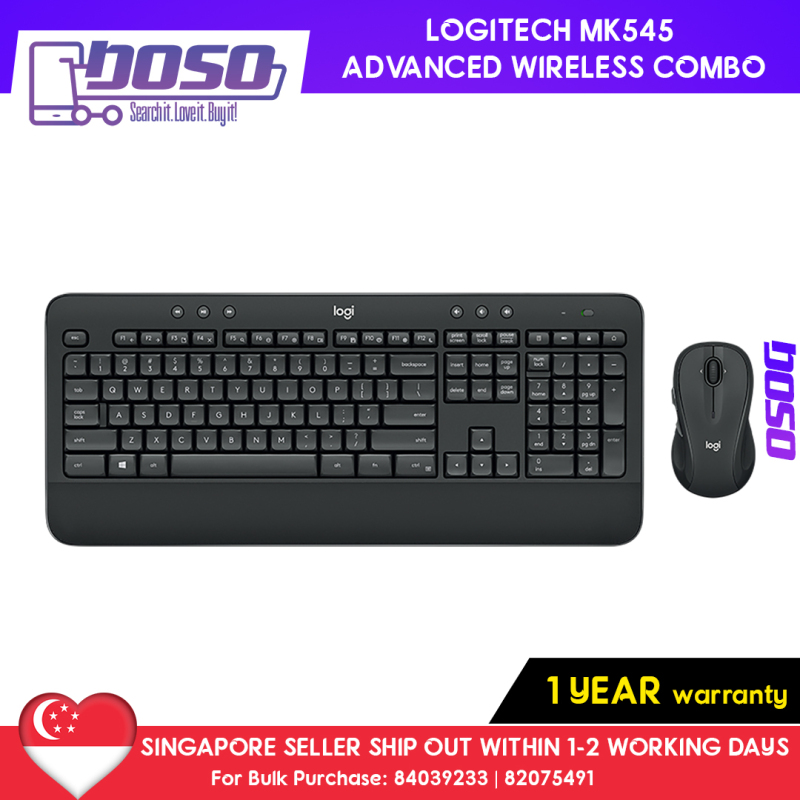 Logitech MK545 Advanced Wireless Keyboard and Mouse Combo (Precision, Confort, Reliability, 1 Year Warranty) Singapore
