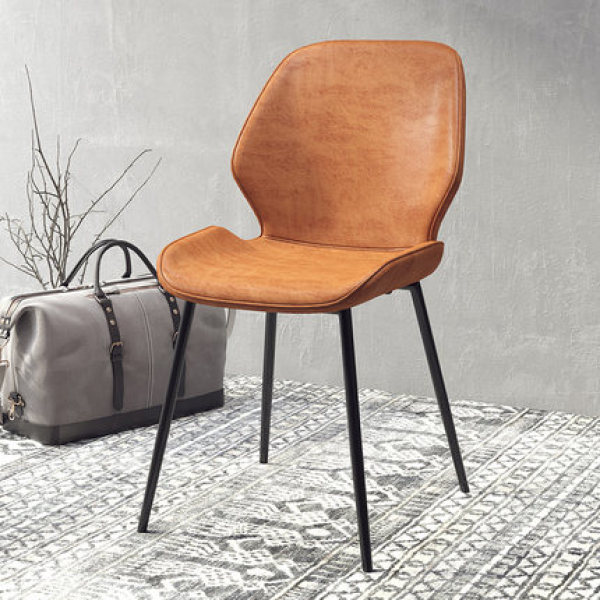 office chair,computer chair,dining chair,lounge chair,cafe restaurant chair,high quality PU leather,wrap design,smooth soft touch feel,high quality rebound foam,exquiste leg support structure,backrest,nordic luxury design,vintage grey