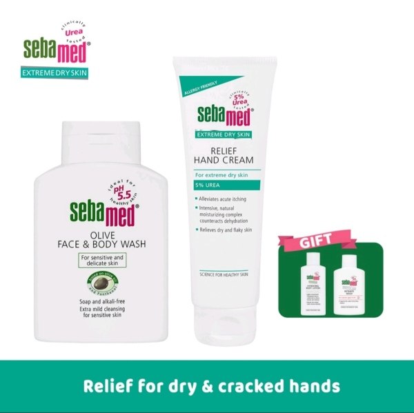 Buy Sebamed Hand Hygiene Set - For Dry Hands [Olive FBW 200ml/Urea Hand Crm 75ml] Singapore