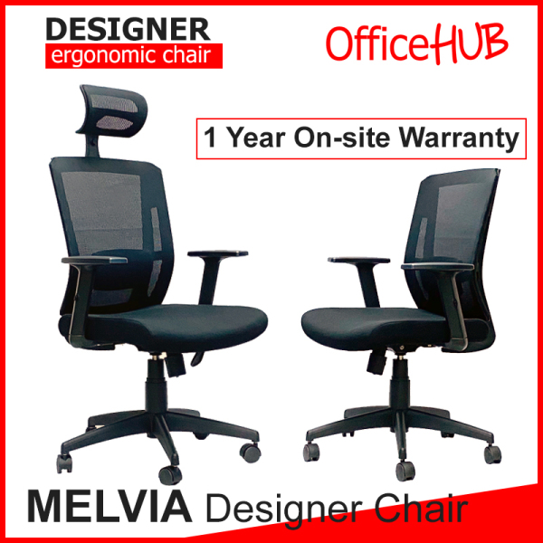 OFFICEHUB Executive Office Chair MELVIA ★ High Back Chair ★ HighBack Chair ★ Gaming Chair ★ Mesh Chair ★ Home study ★ Ergonomic Chair ★ Study Chair ★ Study Table ★ Many Colours ★ 1 Year Warranty