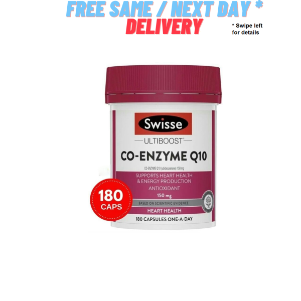 Buy Swisse Ultiboost Co-Enzyme Q10 150mg 180 Capsules – Authentic Australia Made Singapore