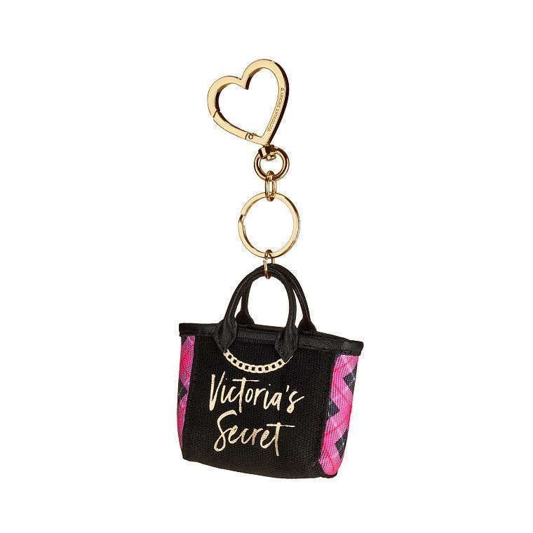 7fdab78cee8 VS Victoria s Secret mini canvas signature city tote bag charm