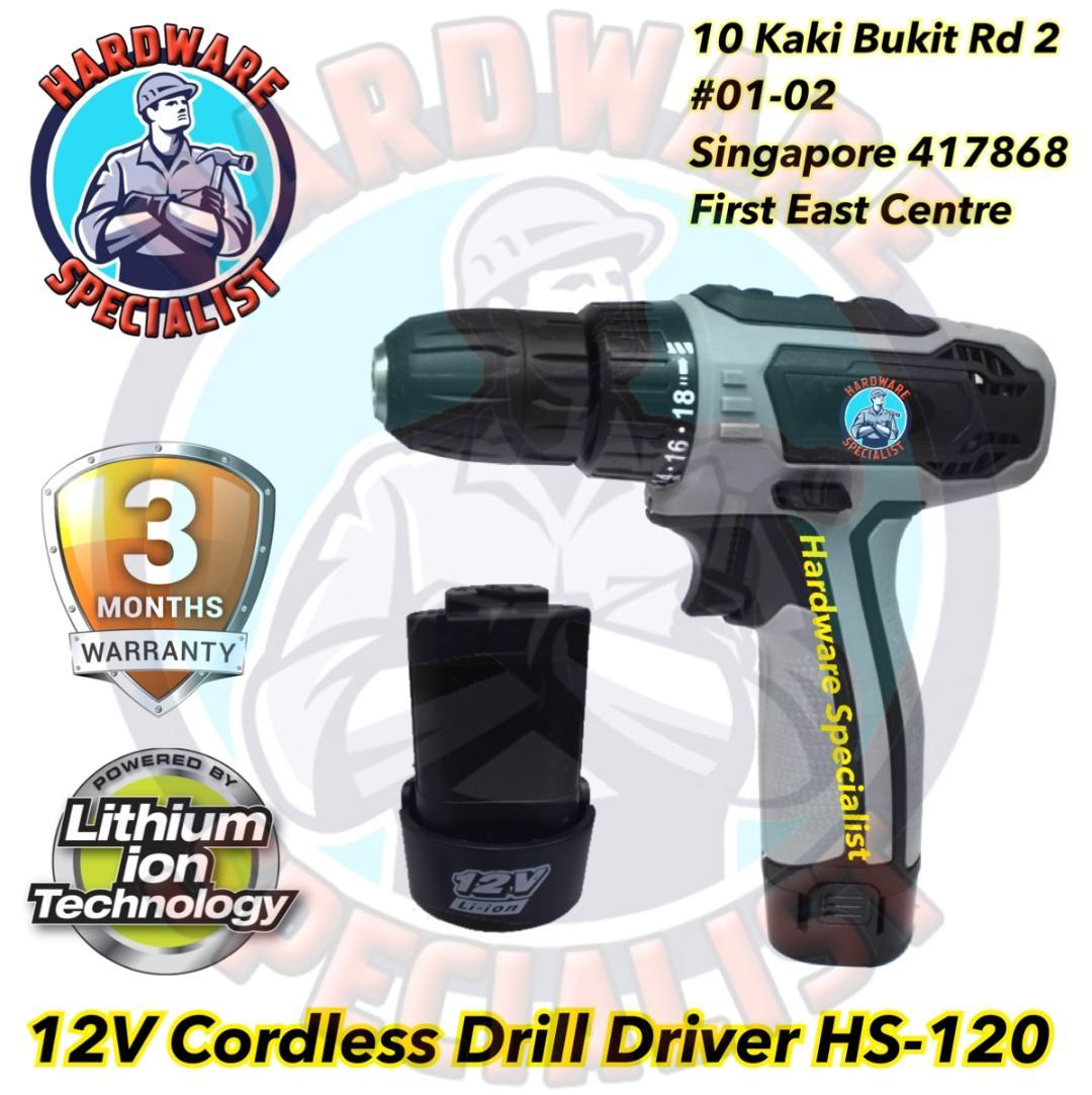 Hardware Specialist 12V Cordless Drill Driver HS-120 (Cordless Screwdriver)