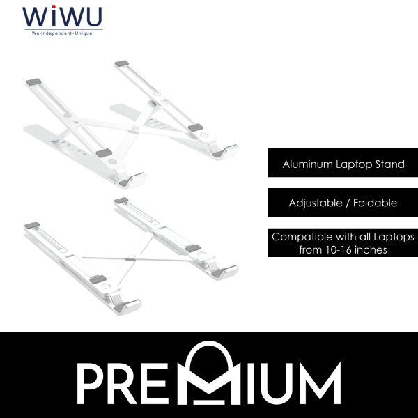 WiWU S400 Folding Adjustable Aluminum Durable Laptop Stand