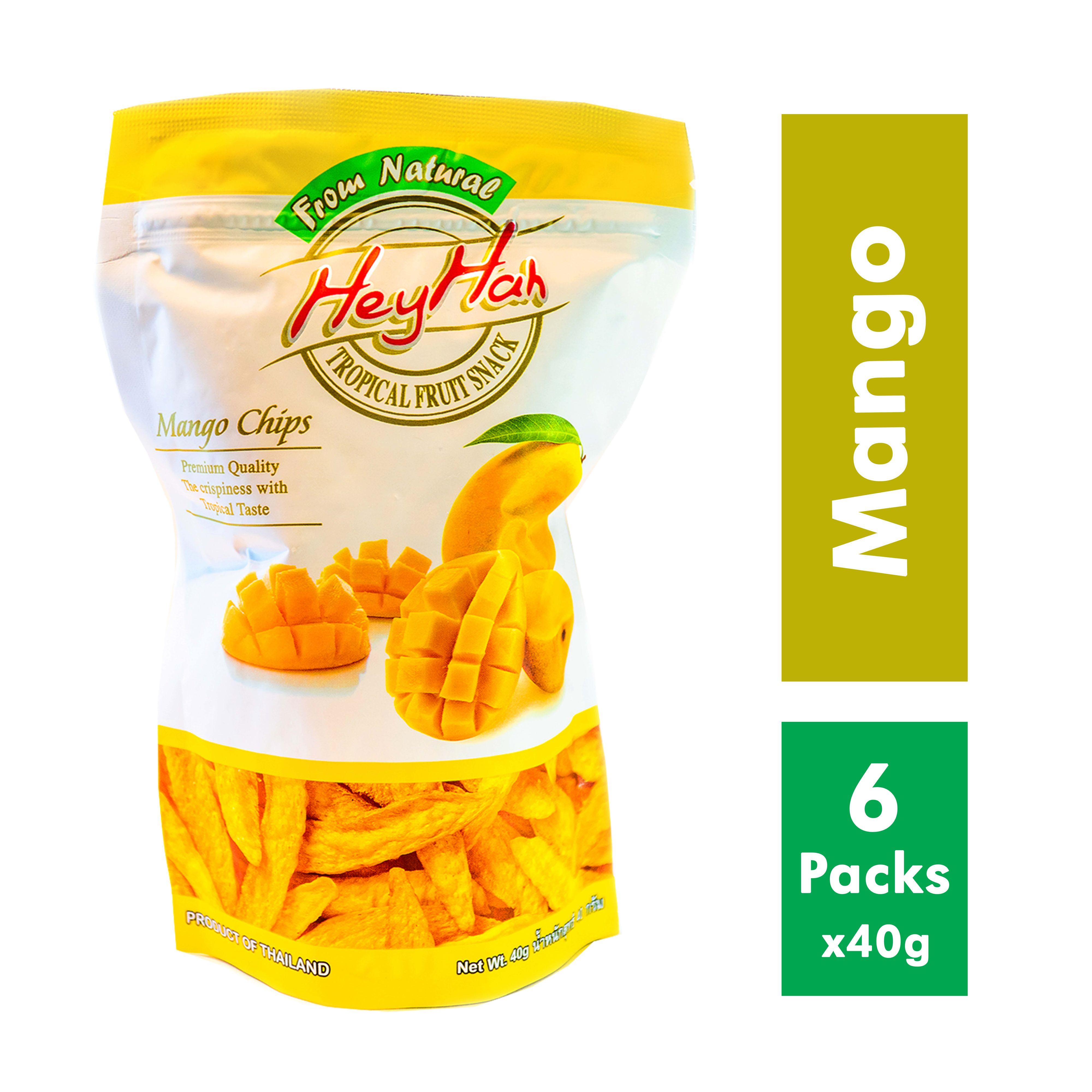 6 Packs X Heyhah Premium Mango Chips (100% Natural; Contains Real Fruits & Vegetables) By Heyhah Health Food.