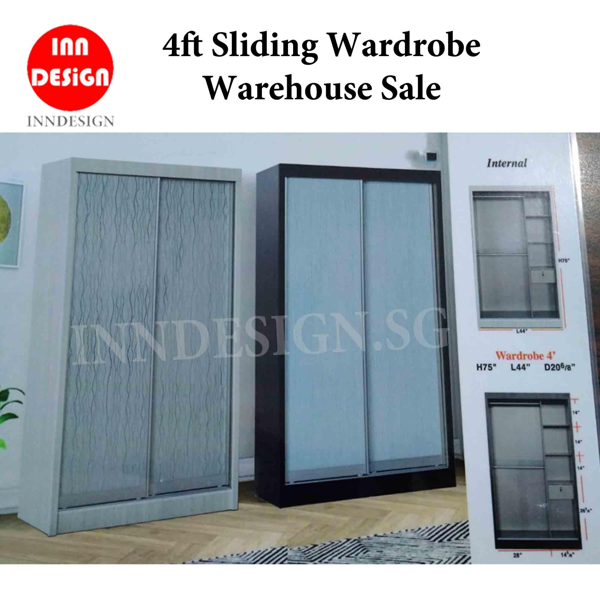 4ft Sliding Wardrobe Clearance Sale Offer (Free Delivery and Installation)