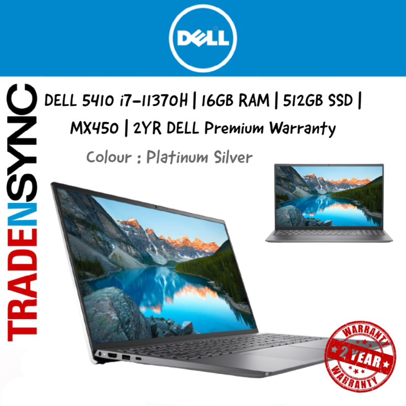 [ FAST DELIVERY ] H Processor   Dell Inspiron 5410    i7-11370H   16GB RAM   512GB SSD   MX 450 Graphics   Thunderbolt 4 support   Anti-glare LED Backlight Non-Touch Narrow Border WVA Display   2Y Premium Support and Onsite Warranty