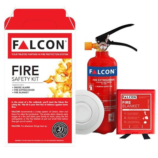 3-in-1 Home Fire Safety Kit (Smoke Alarm Made in Ireland) *5 Years Warranty for Smoke Alarm*