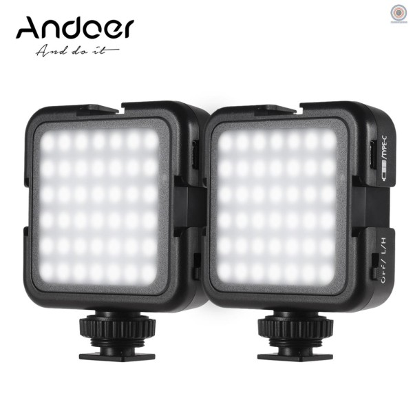RMF Andoer 42LED Ultra Bright LED Video Lights 42PCS Light Beads with Cold Shoe Mount Dimmable Brightness 6000K Stable Color Temperature Shooting Photographing Lighting Compatible with Canon Nikon Sony Digital DSLR Cameras