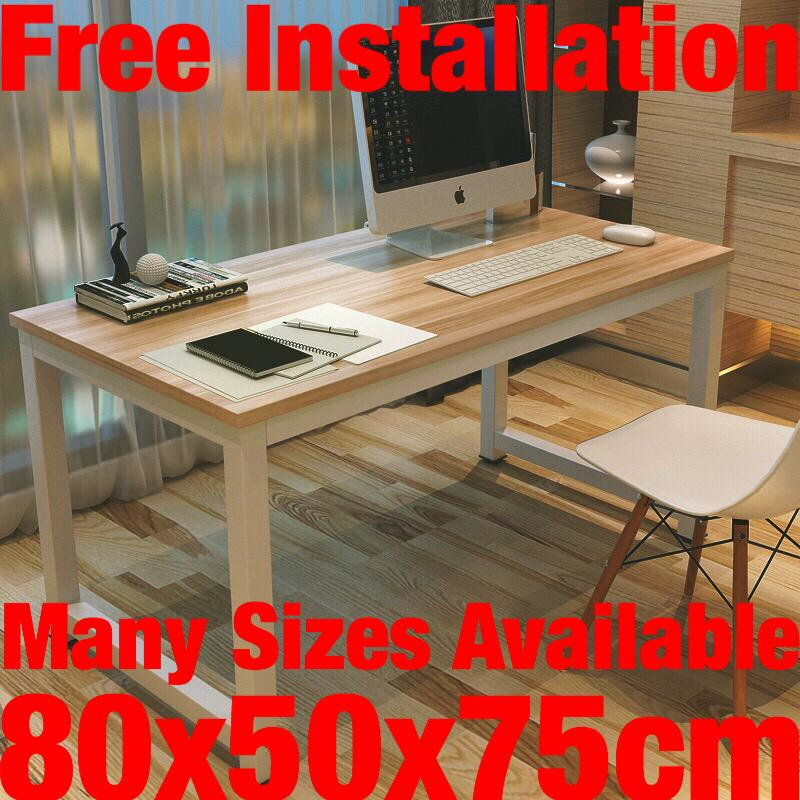 UMD (Free Installation) office table study table study desk computer table computer desk (Refer to pics for actual design/color/size)