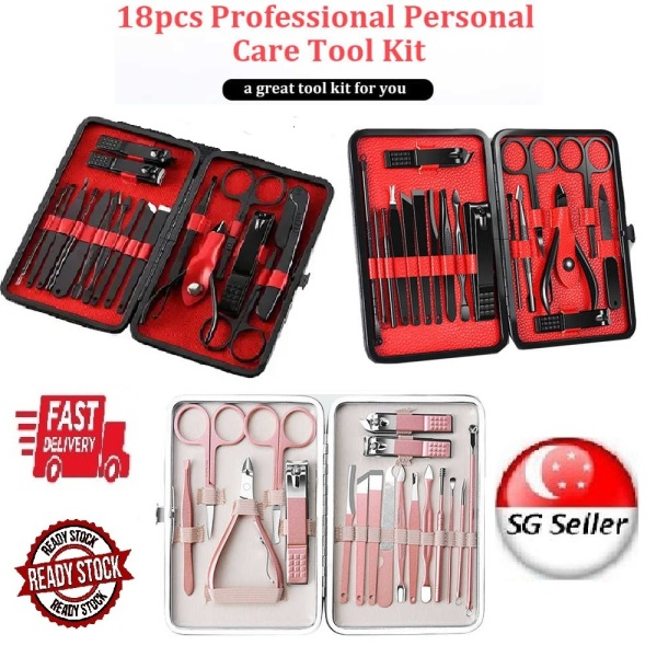 Buy *18PCS* NAIL CARE TOOLS SET (ROSE GOLD / BLACK & RED) SG LOCAL SELLER *FAST DELIVERY* MADE FROM HIGH GRADE STAINLESS STEEL *SHARP & DOES NOT RUST* GOOD QUALITY & DURABLE *CUTICLE CARE & NAIL CLIPPER* MANICURE & PEDICURE KIT - DISTRIBUTED BY BEAUTY BESTIE Singapore