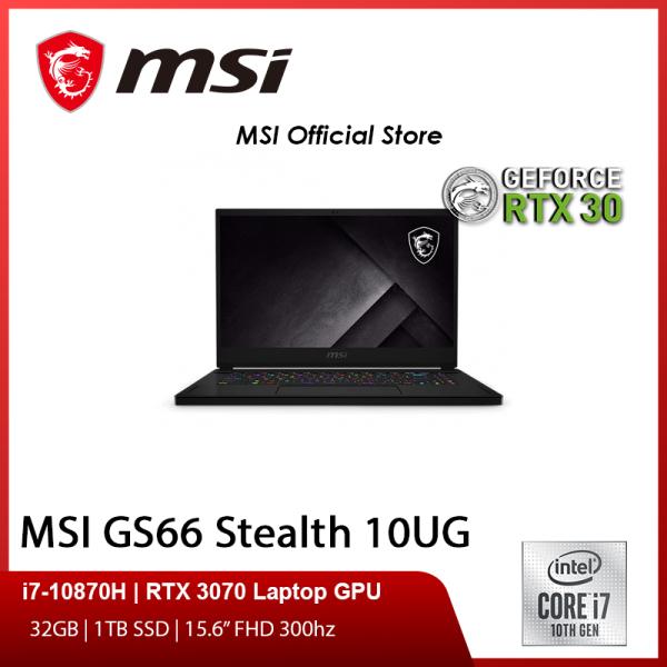 [Express Delivery] MSI GS66 Stealth 10UG (i7-10870H/32GB/1TB SSD/NVIDIA RTX 3070 8GB GDDR6/15.6FHD 300Hz/W10)-(2Y)