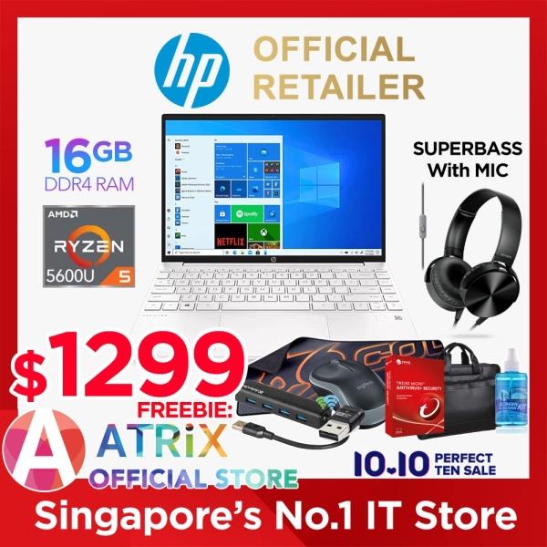 【Free MS Office】Same-Day-Delivery | HP Pavilion Aero 13-be0024AU | 13.3inch 16:10 1920x1200 Slim IPS 400nits | AMD Ryzen 5 5600U | 16GB DDR4 | 512GB SSD | Wifi 6 | 2Y HP ADP Warranty