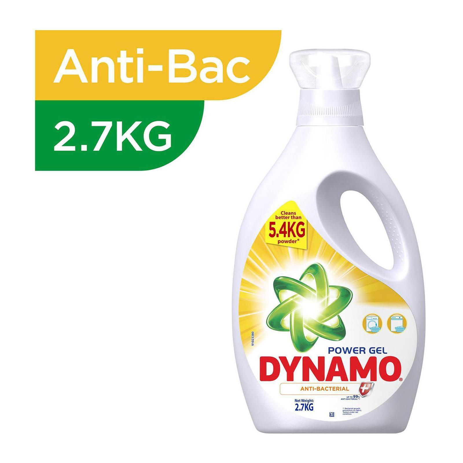 Dynamo Power Gel Anti-Bacterial Laundry Detergent Refill 1.44KG