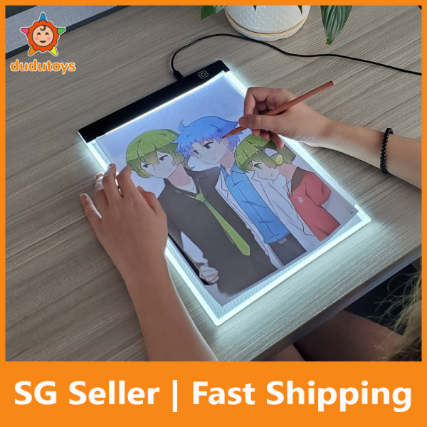 DuduToys A4 LED Light Box Tracer Dimmable Led Drawing Copy Pad Board Childrens Toy Painting Educational Kids Grow Playmates Creative Gifts For Children